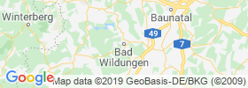 Bad Wildungen map